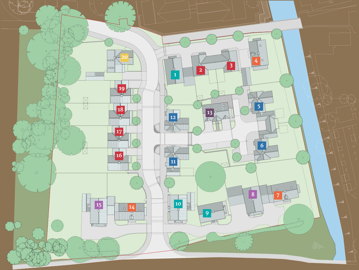 Bocking Riverside siteplan